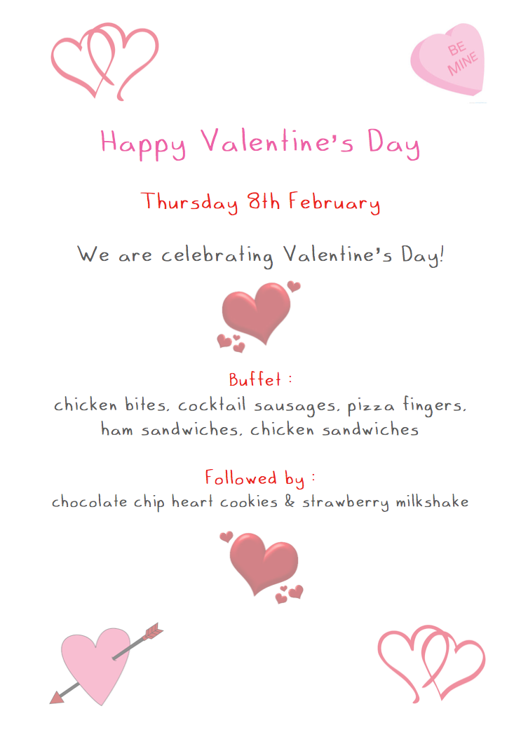 Menu Change for Thursday 8th February