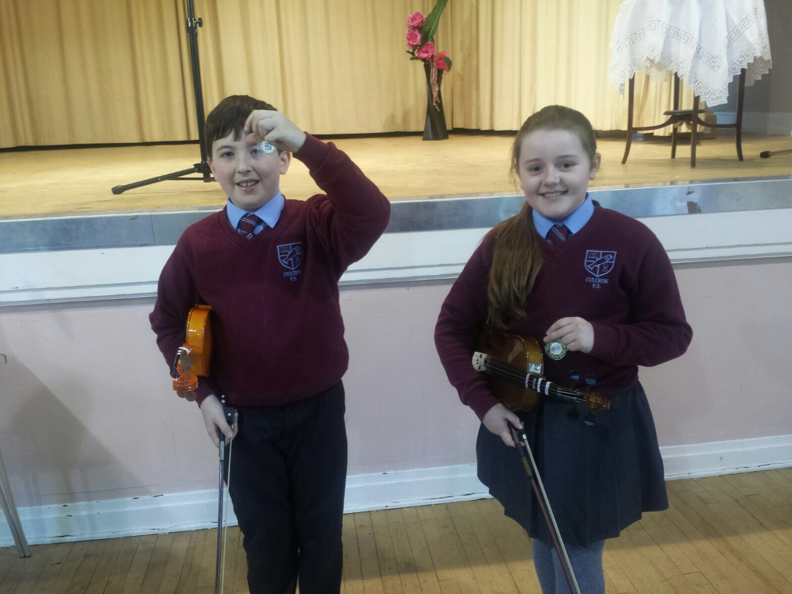 Congratulations to our Violinists, Robert and Sarah!